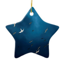 Miscellaneous - Arctic Tern & Blue Sky Pattern Ceramic Ornament