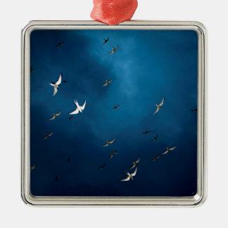 Miscellaneous - Arctic Tern & Blue Sky Pattern Metal Ornament