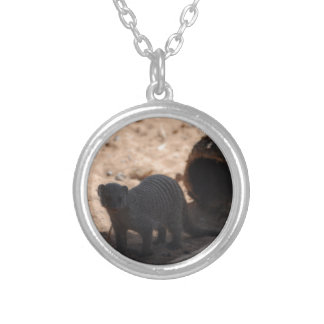 Miscellaneous - Banded Mongoose - Shadows & Light Round Pendant Necklace