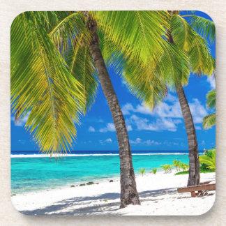 Miscellaneous - Beach & Palm Trees Fourteen Beverage Coaster