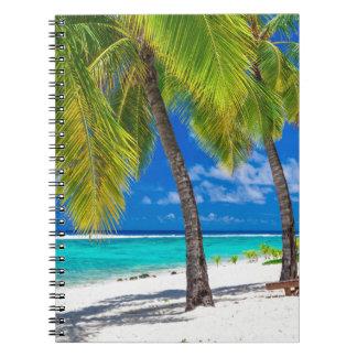 Miscellaneous - Beach & Palm Trees Fourteen Spiral Notebook