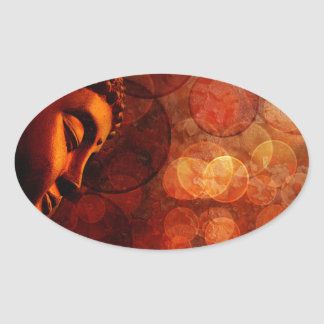 Miscellaneous - Bhudda Two Oval Sticker