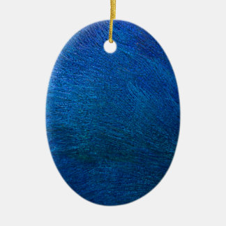 Miscellaneous - Blue Peacock' S Feathers Pattern Ceramic Ornament