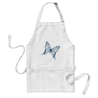 Miscellaneous - Blue Vintage: Butterfly Adult Apron