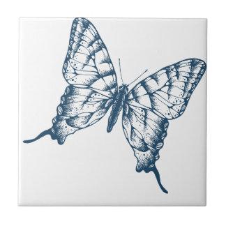 Miscellaneous - Blue Vintage: Butterfly Ceramic Tile