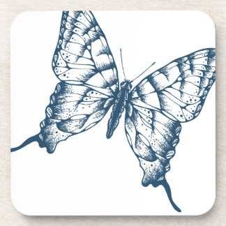 Miscellaneous - Blue Vintage: Butterfly Coaster