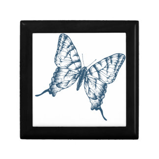 Miscellaneous - Blue Vintage: Butterfly Gift Box