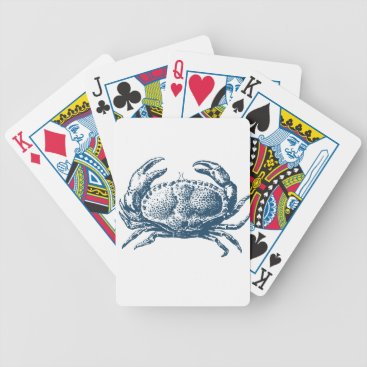 Professional Business Miscellaneous - Blue Vintage: Crab Bicycle Playing Cards