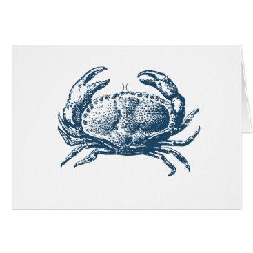 Professional Business Miscellaneous - Blue Vintage: Crab Card