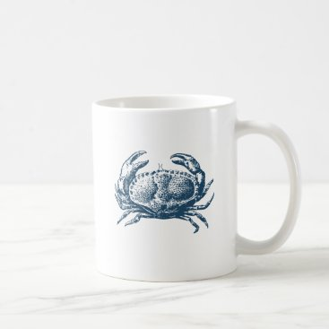 Professional Business Miscellaneous - Blue Vintage: Crab Coffee Mug