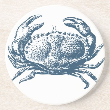 Professional Business Miscellaneous - Blue Vintage: Crab Drink Coaster