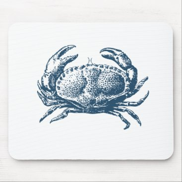 Professional Business Miscellaneous - Blue Vintage: Crab Mouse Pad