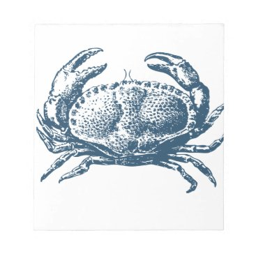 Professional Business Miscellaneous - Blue Vintage: Crab Notepad