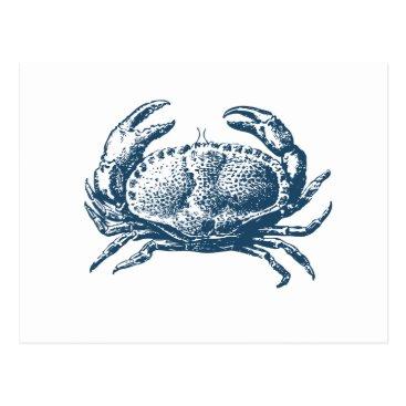 Professional Business Miscellaneous - Blue Vintage: Crab Postcard
