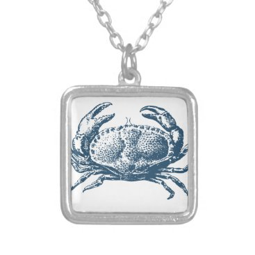 Professional Business Miscellaneous - Blue Vintage: Crab Silver Plated Necklace