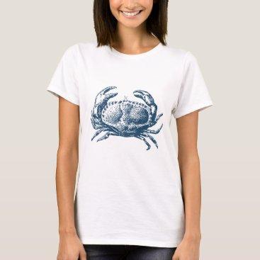 Professional Business Miscellaneous - Blue Vintage: Crab T-Shirt