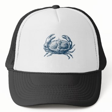 Professional Business Miscellaneous - Blue Vintage: Crab Trucker Hat