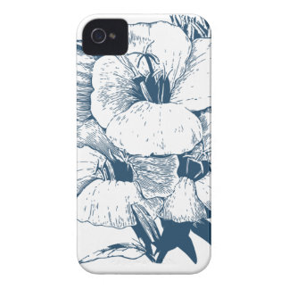 Miscellaneous - Blue Vintage: Lovely Flowers iPhone 4 Cases