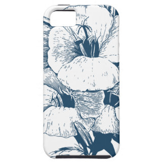 Miscellaneous - Blue Vintage: Lovely Flowers iPhone SE/5/5s Case