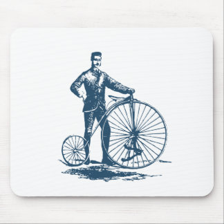 Miscellaneous - Blue Vintage: Old-Fashioned Bike Mouse Pad