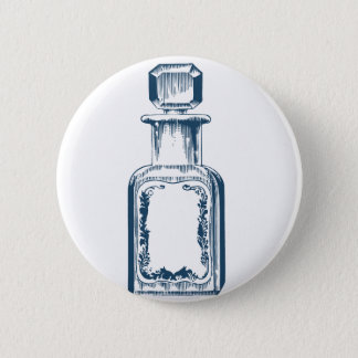 Miscellaneous - Blue Vintage: Perfume Bottle Pinback Button