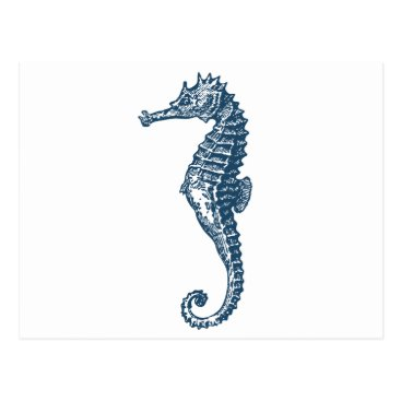 Professional Business Miscellaneous - Blue Vintage: Seahorse Two Postcard
