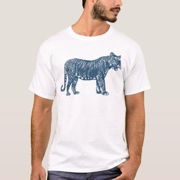 Professional Business Miscellaneous - Blue Vintage: Tiger T-Shirt
