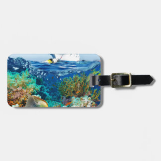 Miscellaneous - Boat & Coral Reef Pattern Fourteen Bag Tag