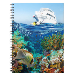 Miscellaneous - Boat & Coral Reef Pattern Fourteen Notebook