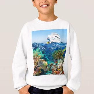 Miscellaneous - Boat & Coral Reef Pattern Fourteen Sweatshirt