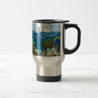 Miscellaneous - Boat & Coral Reef Pattern Fourteen Travel Mug