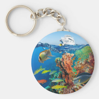 Miscellaneous - Boat & Coral Reef Pattern Nineteen Keychain