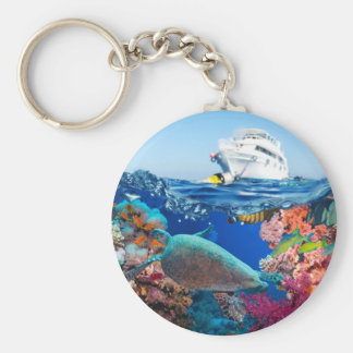 Miscellaneous - Boat & Coral Reef Pattern Thirteen Keychain