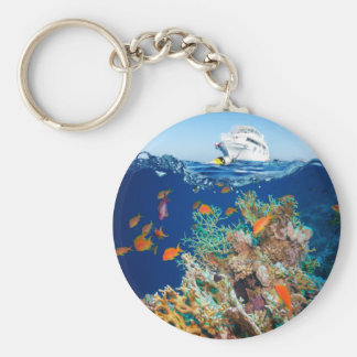 Miscellaneous - Boat & Coral Reef Patterns Eleven Keychain