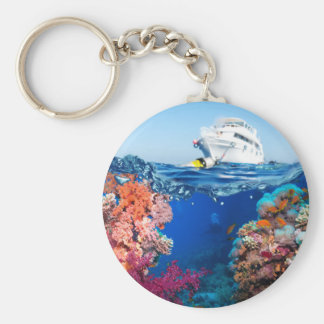 Miscellaneous - Boat & Coral Reef Patterns Fifteen Keychain