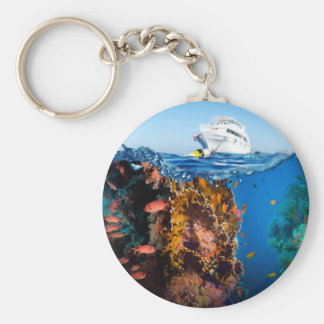 Miscellaneous - Boat & Coral Reef Patterns Five Keychain