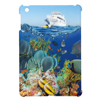 Miscellaneous - Boat & Coral Reef Patterns Furnace iPad Mini Case