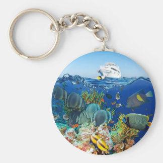Miscellaneous - Boat & Coral Reef Patterns Furnace Keychain