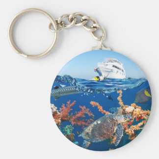 Miscellaneous - Boat & Coral Reef Patterns Seven Keychain