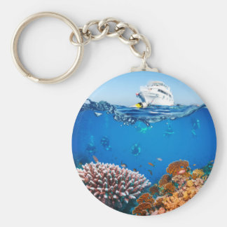 Miscellaneous - Boat & Coral Reef Patterns Six Keychain