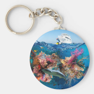 Miscellaneous - Boat & Coral Reef Patterns Sixteen Keychain