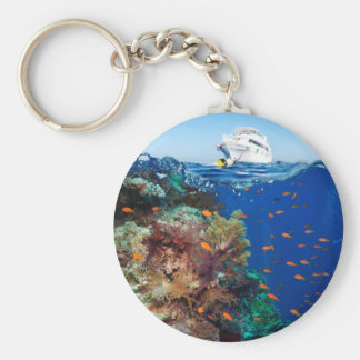 Miscellaneous - Boat & Coral Reef Patterns Ten Keychain