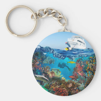 Miscellaneous - Boat & Coral Reef Patterns Twelve Keychain
