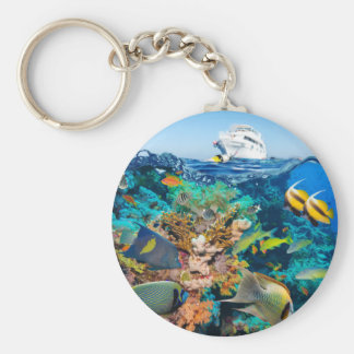 Miscellaneous - Boat & Coral Reef Patterns Twenty Keychain