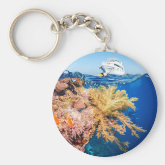 Miscellaneous - Boat & Coral Reef Patterns Two Keychain