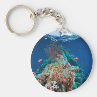 Miscellaneous - Boat & Coral Reef Seventeen Keychain