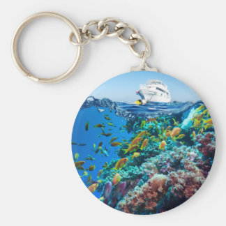 Miscellaneous - Boat & Coral Reef Twenty-One Keychain