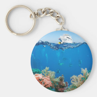 Miscellaneous - Boat & Coral Reef Twenty-Two Keychain