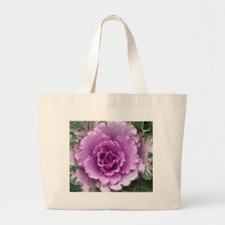 Miscellaneous - Cabbage Purple Flower Pattern Jumbo Tote Bag