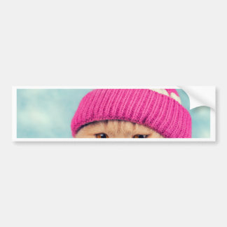 Miscellaneous - Cat With Woolly Hat Ten Bumper Sticker